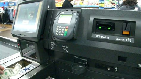 Ncr Self Checkout With Bring-to Belt At Walmart