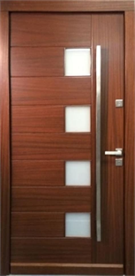 model  modern walnut wood exterior door wfrosted glass