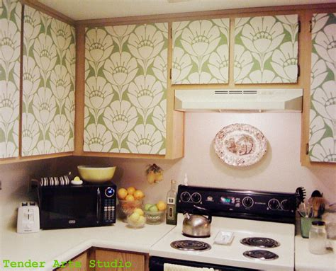 Lining Kitchen Cupboards by Starch Covered Fabric For Kitchen Cupboards Easily