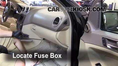 interior fuse box location   mercedes benz ml