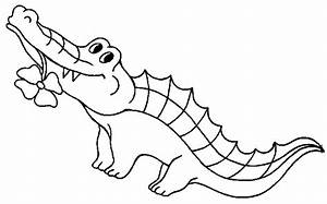 Crocodile Black And White | Clipart Panda - Free Clipart ...