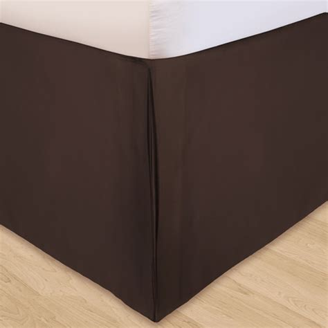 solid microfiber 3 piece adjustable bed skirt walmart com