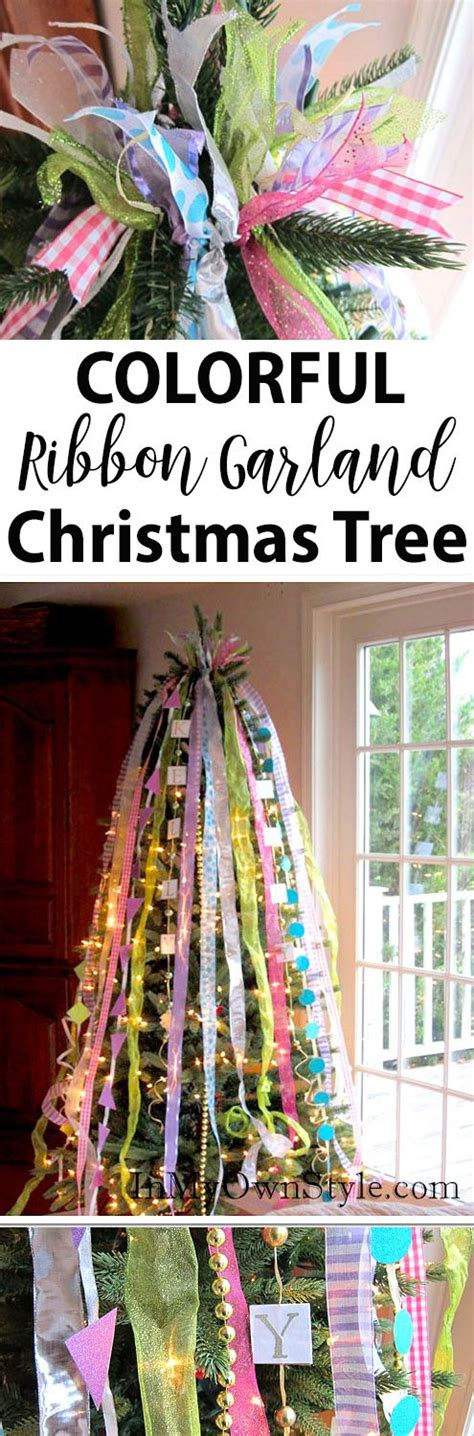 vertical ribbon on christmas tree 464 best decorating ideas images on ideas crafts and