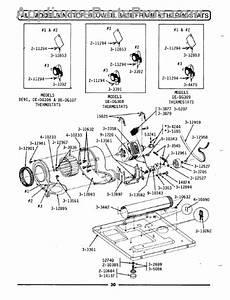 Parts For Maytag De608  Motor  Blower  Base Frame