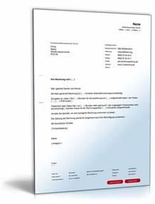 Mahnung Ohne Rechnung : aufforderung korrektur rechnung vorlage zum download ~ Themetempest.com Abrechnung