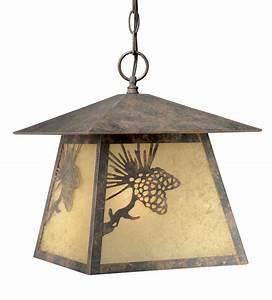 Rustic, Chandeliers, Pinecone, Cabin, Outdoor, Pendant, Light