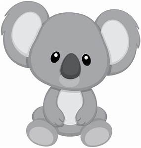 Koala Bear clipart cute - Pencil and in color koala bear ...