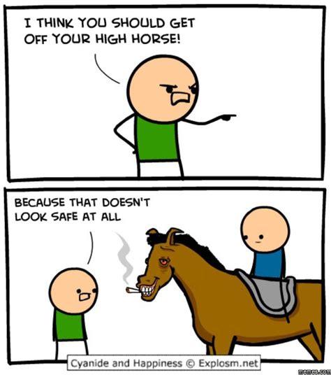 High Horse Meme - image gallery high horse meme