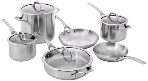 calphalon accucore stainless steel cookware  piece set   fry pan