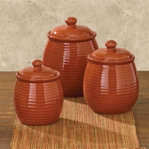 set   serrano terracotta kitchen canisters ceramic