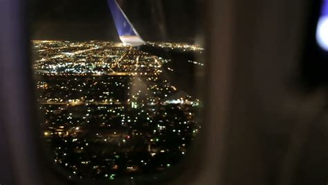 Stock Video Of Airplane Window Seat View Of 7986562