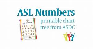 Free Asl Numbers Chart American Society For Deaf Children