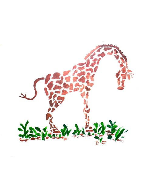 Childrens Bedroom Stencils by Wall Stencil Giraffe Wall Rooms Decorate Bedrooms