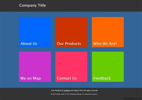 Html Template Free Metro Ui Templates To Create Windows 8 Metro Style