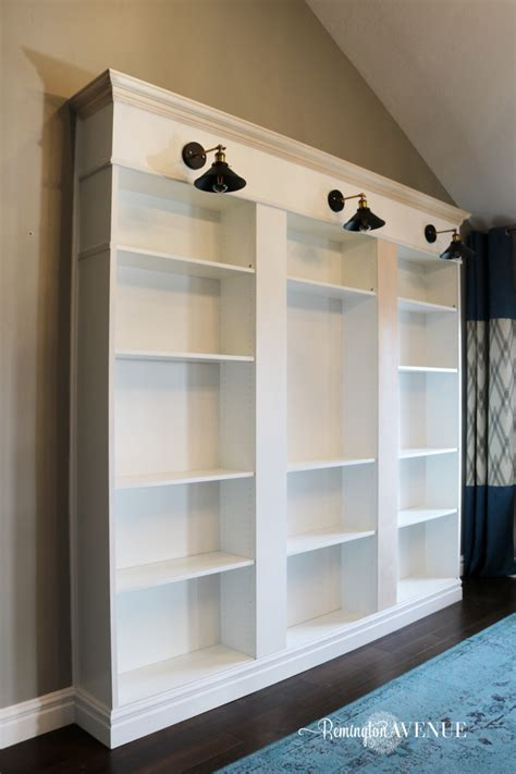 bookcases that look built in ikea billy bookcase library hack remington avenue