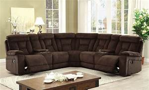 Maybell chenille fabric reclining sectional las vegas for Sectional sofa las vegas
