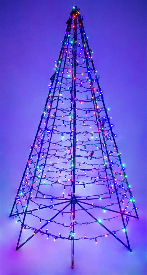6' Ft Metal Frame Artificial Christmas Holiday Tree W
