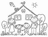 Coloring Pages Printable Happy Members Children Fun sketch template
