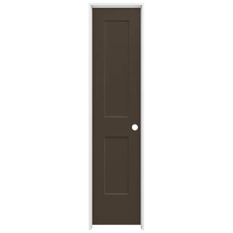jeld wen 20 in x 80 in smooth 2 panel chocolate
