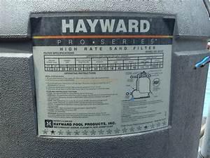Hayward Pool Sand Filter Owners Manual