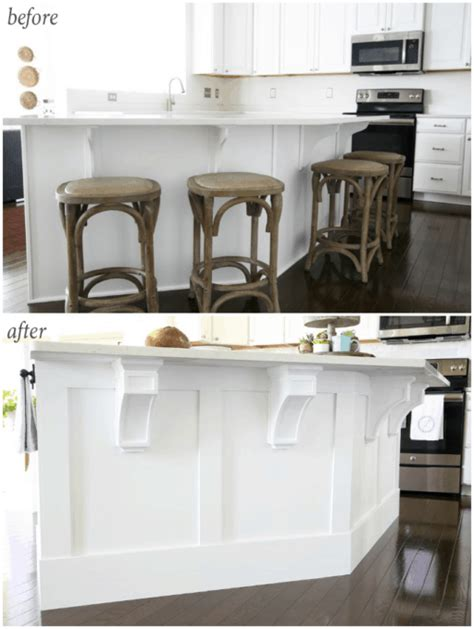 how to add a kitchen island how to add custom trim to a kitchen island just a