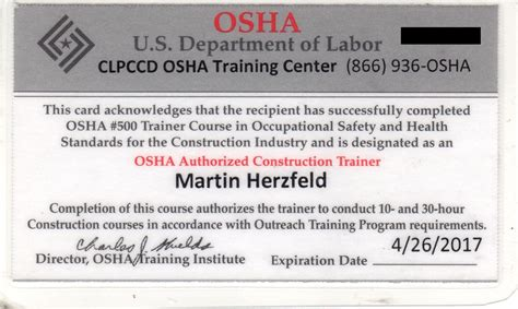 Osha 10 Card Template by Licensed Solar Contractor Project Consultant Licensed