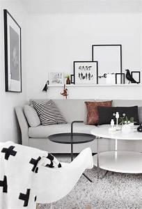 Schwarz Weiß Wohnzimmer : schwarz wei grau interior living room bilderleiste bilder wohnzimmer und haus wohnzimmer ~ Orissabook.com Haus und Dekorationen