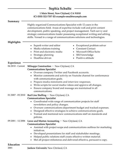 Marketing Resumes by Marketing Resume Exles Marketing Sle Resumes