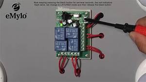Emylo Dc 12v 4ch Remote Control Switch Wireless Rf Relay Transmitter Receiver 433mhz