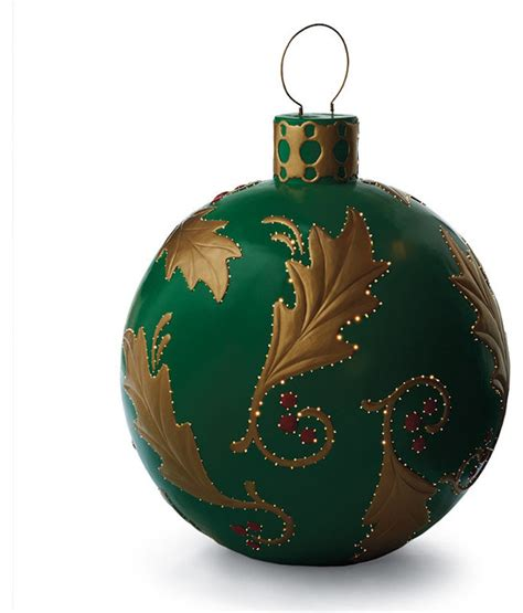 green holly fiber optic ornament frontgate outdoor