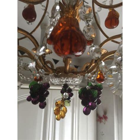 lustre 224 pilles de cristal et fruits color 233 s en verre
