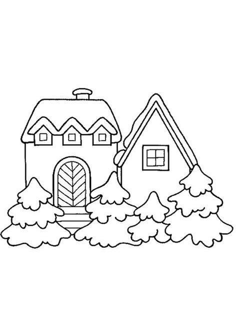 dessin maison de cagne coloriage noel neige maison sur hugolescargot