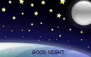 Moon, star, galaxy HD good nite wallpaper | Good Night ...