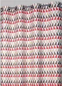 Rideau Gris Et Rouge : rideau jacquard motifs tricolores rouge gris ~ Teatrodelosmanantiales.com Idées de Décoration