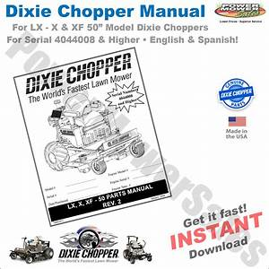 Dc-lx50-man Dixie Chopper Parts Manual For Lx  X  Xf-50