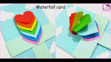 How To Make Fall Decorations At Home: How To Make Waterfall Card