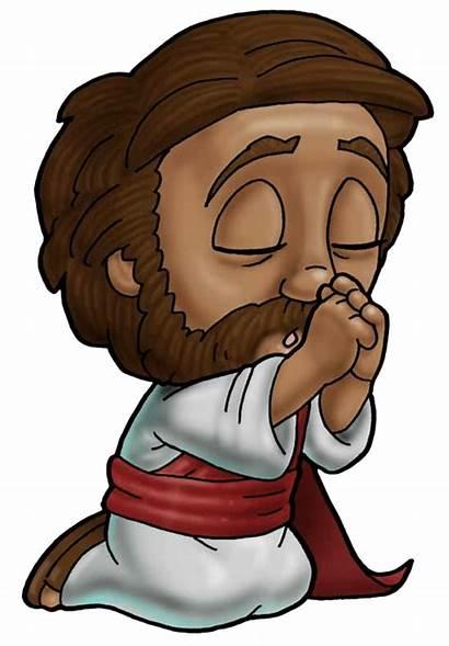 Clipart Jesus Animated Christ Pray Praying Transparent