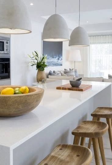 concrete pendant lights in the kitchen it but