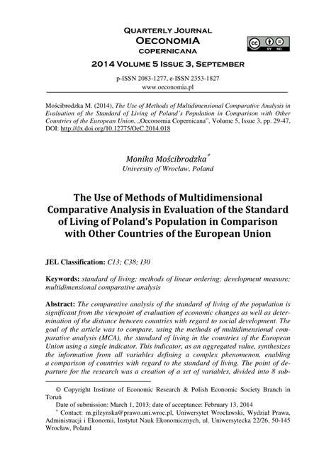 (PDF) The Use of Methods of Multidimensional Comparative