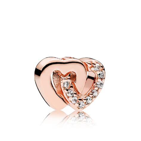 PANDORA Rose™ Interlocked Hearts Petite Locket CZ Charm ...