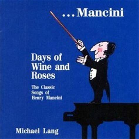 Film Music Site (français)  Days Of Wine And Roses Bande