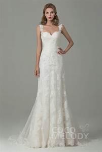 Hochzeitskleid Spitze Rückenfrei : langes hochzeitskleid mit tr gern im vintage look cwvt15002 cocomelody ~ Frokenaadalensverden.com Haus und Dekorationen
