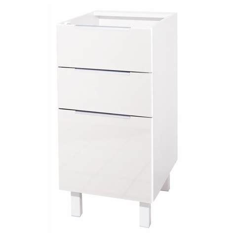 bureau largeur 40 cm pop meuble bas de cuisine 40 cm blanc haute brillance