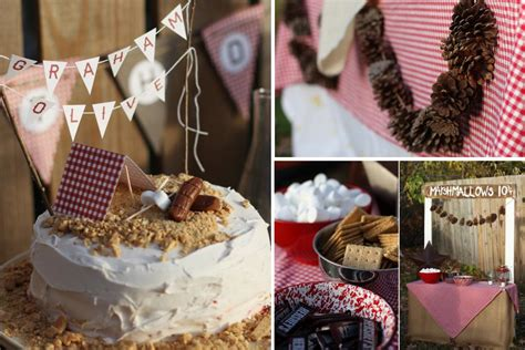 karas party ideas camping themed girl  boy birthday