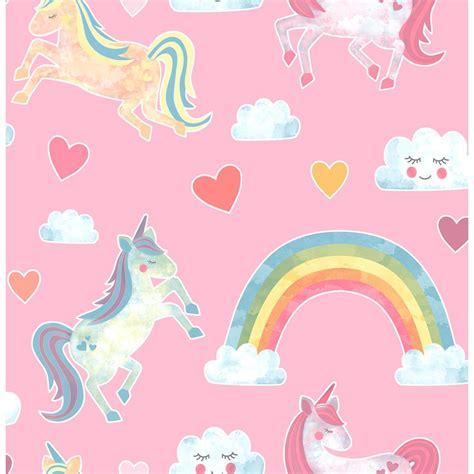 Brewster 8 in x 10 in Elora Pink Unicorn Wonderland