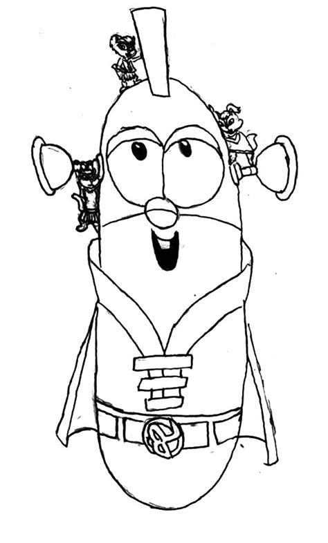 larry boy coloring pages   print