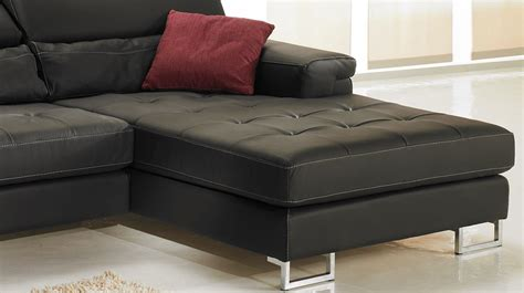 canapé angle noir pas cher canapé d 39 angle gauche cuir noir pas cher