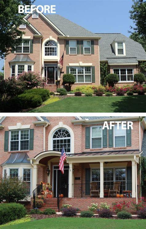 image result  adding  front porch   brick colonial home porchesportico