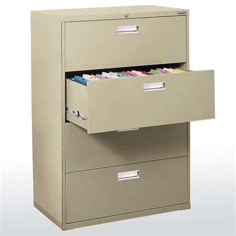 home depot file cabinets sandusky 600 series 36 in w 4 drawer lateral file cabinet