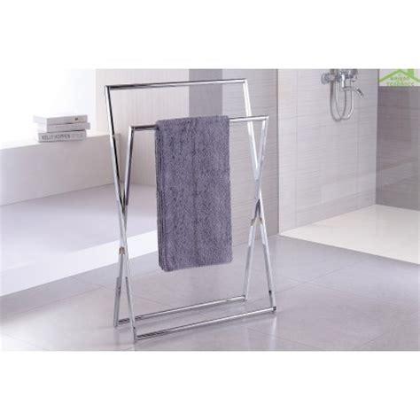 barre porte serviette sur pied en chrome beta 15 x 80x 40cm